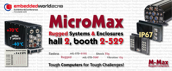 MicroMax to exhibit at Embedded World 2018